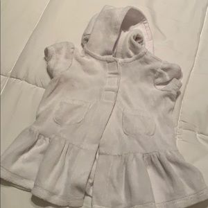 3-6 month white baby swimsuit cover up